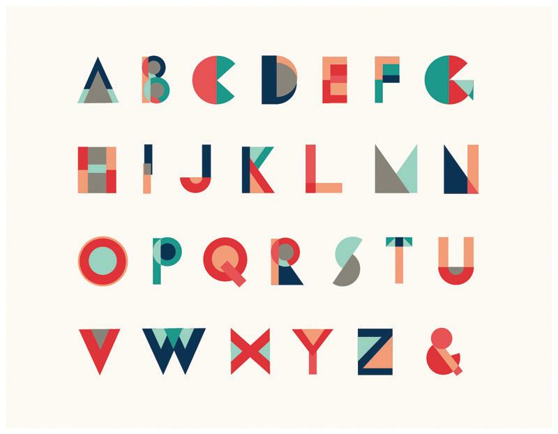 geometric typeface whalen design