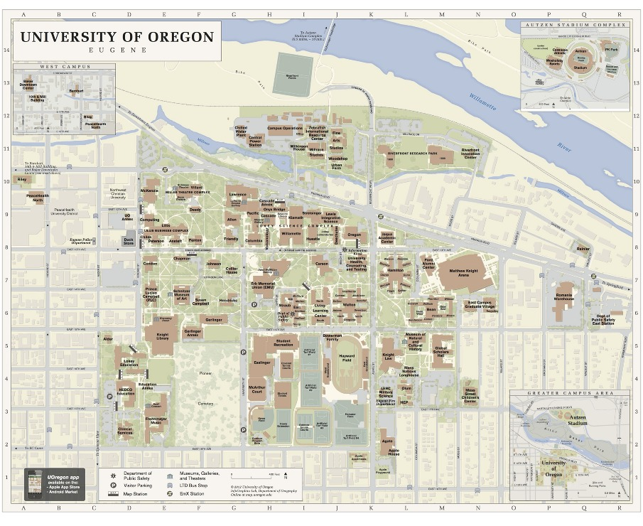 Uo Campus Map   CYNDIIMENNA