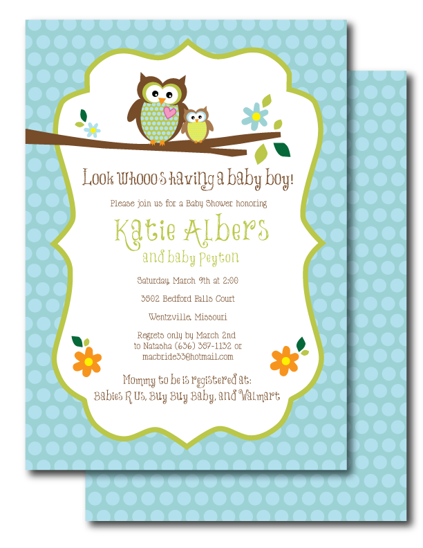 Owl Themed Baby Shower Invites Sarahwolfrum, Baby Shower